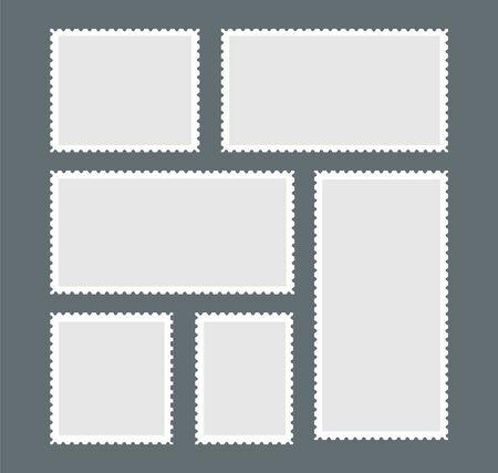 Blank postage stamp - Vector illustration