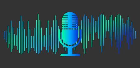 Sound symbol, Personal assistant, Voice recognition Microphone button