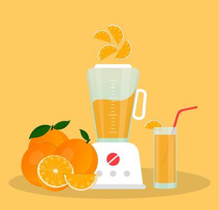 Juicer or blender for making juices and fruit cocktails. Ilustração