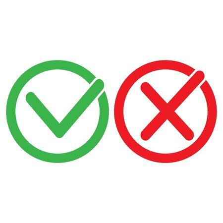 Check Mark Icons - vector illustration
