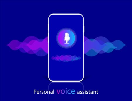 Voice recognition and personal assistant, Sound wave.