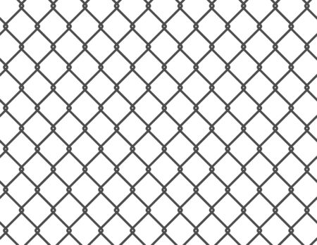 Metal grid pattern, fence black - vector