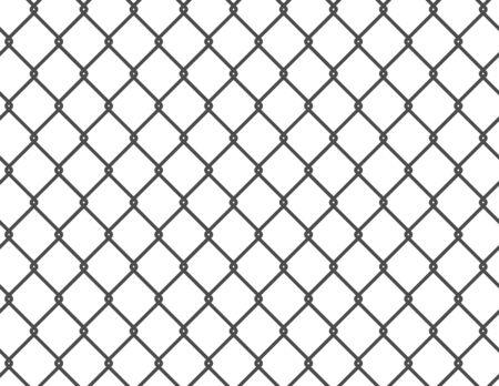 Metal grid pattern, fence black - vector