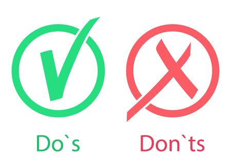 Icono de hacer s y don ts - ilustración vectorial. Ilustración de vector