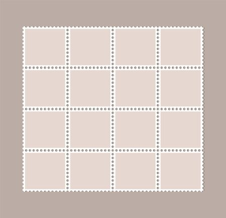 Blank postage stamps, Perforated postage stamps
