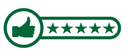 Consumer or customer product rating flat icon for apps and websites - vector