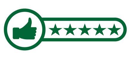 Icona piatta di valutazione del prodotto del consumatore o del cliente per app e siti Web - vettore