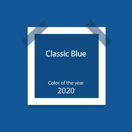 Color of the year 2020 Classic Blue. Ilustracja
