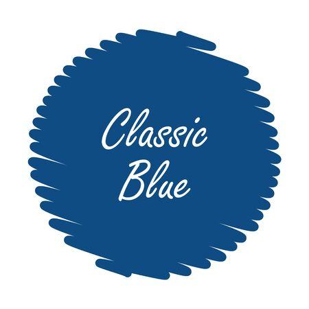 Color trend 2020 Classic Blue, vector