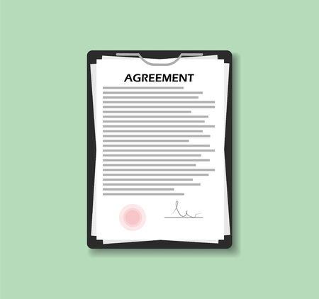 Agreement in flat style, vector illustration Illusztráció