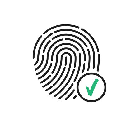 Fingerprint approved icon, state autification