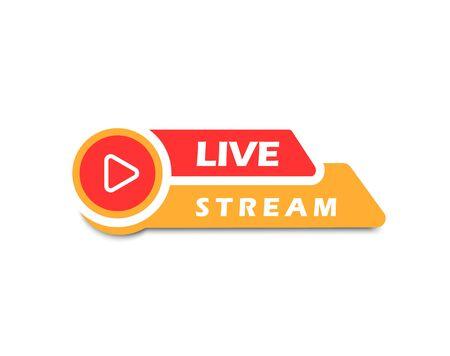 Live stream , vector illustration Ilustracja