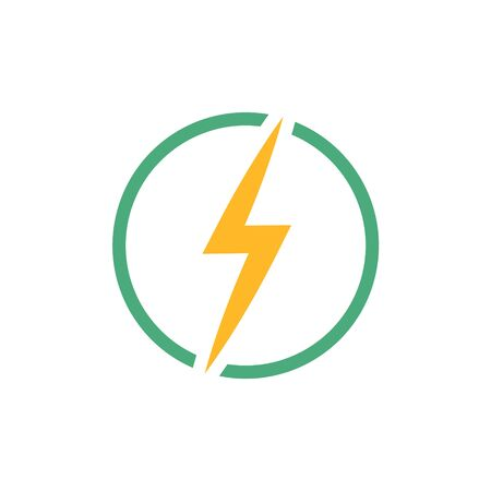 Lightning bolt icon, electricity and voltage icon.