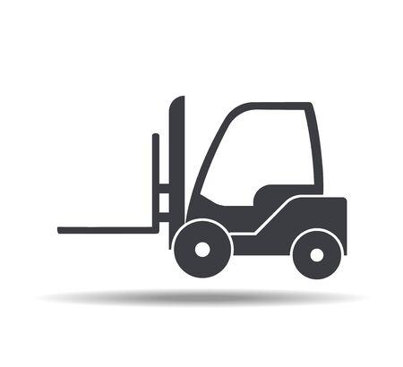 Forklift icon, vector illustration in flat style. Illusztráció