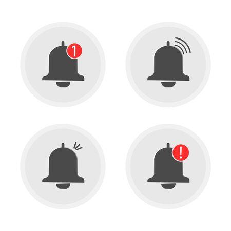 Set of notification icon, vector illustration