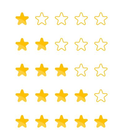 Customer review, feedback star rating