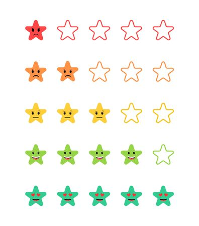 Customer feedback, rating system, star scale of mood