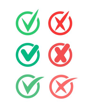 Do s and dont s icons, yes or no.