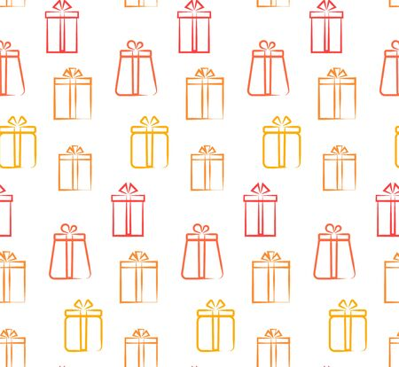Multi-colored gifts, seamless pattern vector