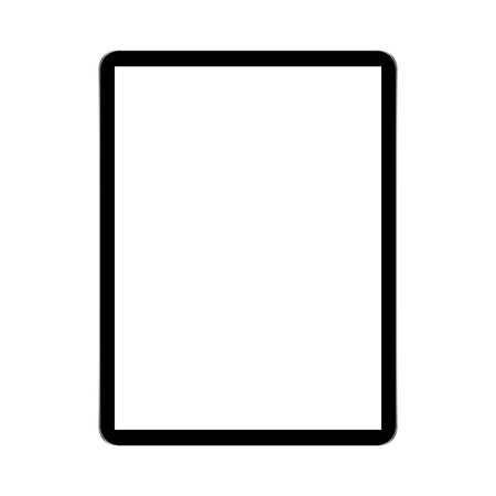 Modern tablet, technological device vector ilustration
