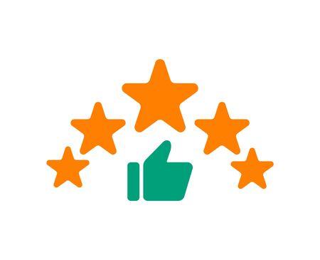 Reviews icon, customer feedback star rating