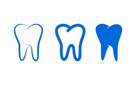 Set of tooth icons, vector illustration