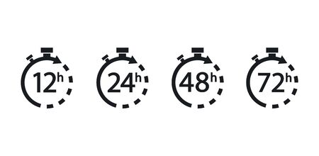 Collection arrows clock and time icons.