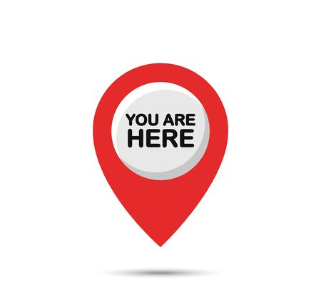 You are a here, marker and pointer icon.