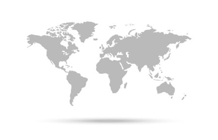 World map vector icon, countries and continents, vector