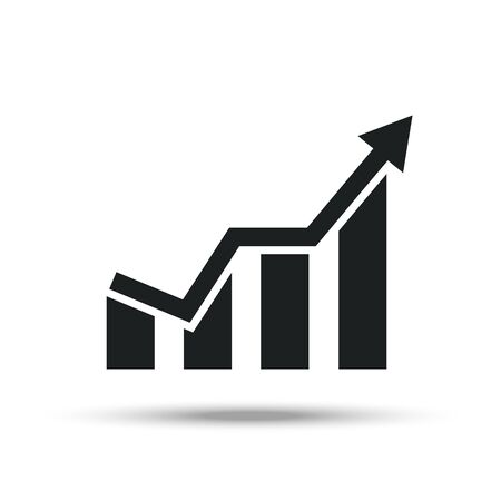 Growing graph icon, finance vector icon Ilustracja