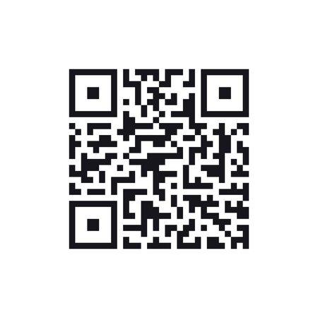 QR code icon, vector illustration