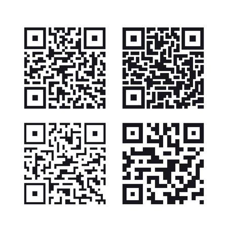 Set of QR codes, vector illustration