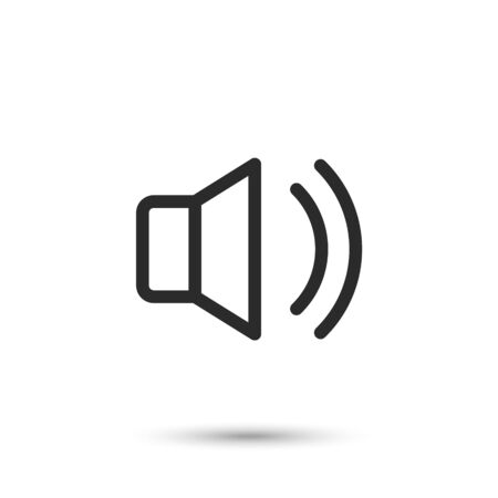 Volume and sound icon, system interface icon, vector illustration