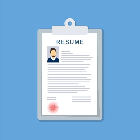Resume in a flat style. CV Document for employment.