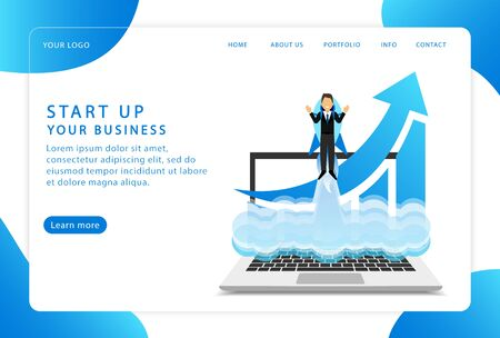 Start up your business. Start a project. Landing page. Modern web pages for web sites.