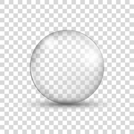 Glass sphere. Realistic water bubble. Soap bubble. Vector Ilustración de vector