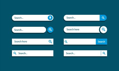 Set of search bar. Search panels design. Template search ui.
