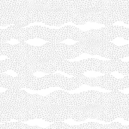 strew: Seamless pattern with a waves from dots. Light background similar to ripples on the sea. Ornamental backdrop. Ornate decor for wallpaper. Endless texture. Spotted pattern fill.