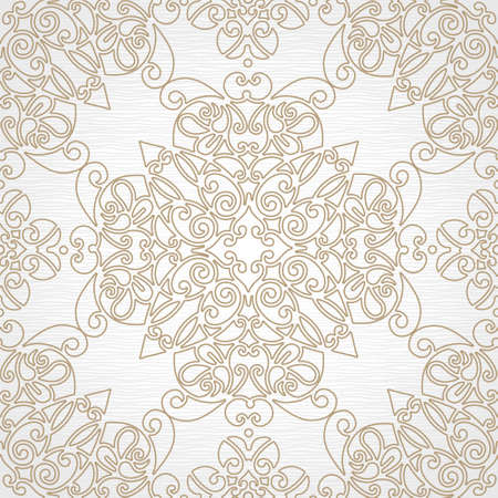 element for design: Vector seamless pattern in east style. Element for design. Ornamental backdrop. Light lace background. Ornate floral decor for wallpaper. Endless texture. Monochrome pattern fill. Illustration