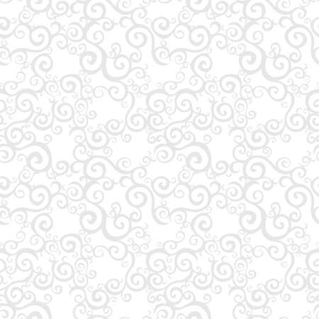 brocade: Vector seamless pattern with swirls motifs in retro style. Light scroll work background. Element for design. Ornamental backdrop and ornate decor for wallpaper. Endless texture. Illustration