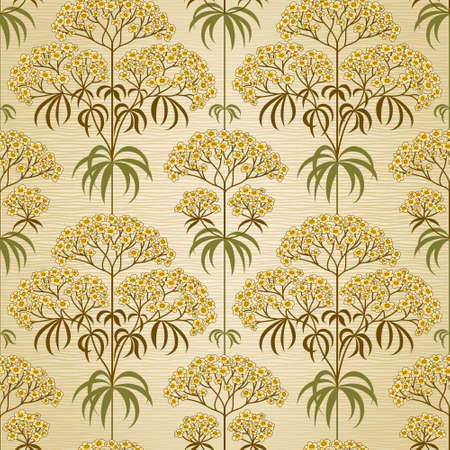 Traditional floral pattern in retro style. Ornamental wallpaper. Background in Victorian style. It can be used for backdrop, pattern fills, web page background, surface textures, classic fabric. Vector