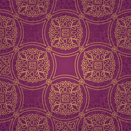 scrollwork: Ethnic decorative pattern  Lacy seamless ornament in retro style  Background in rustic style  It can be used for wallpaper, pattern fills, web page background, surface textures