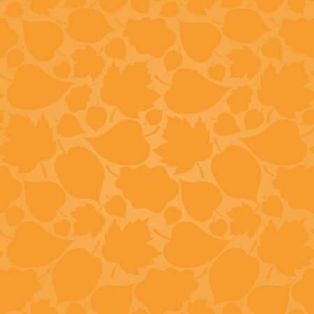 Autumn concept seamless pattern. Bright floral background with leaves Vector