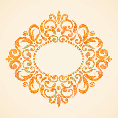 ornament frame: Concept abstract autumn frame with place for text. Ornament frame in Victorian style. Element for design.