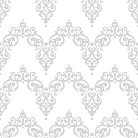victorian wallpaper: Vector seamless pattern in Victorian style. Element for design. Ornamental backdrop and light lace background. Ornate floral decor for wallpaper. Endless texture. Monochrome pattern fill.