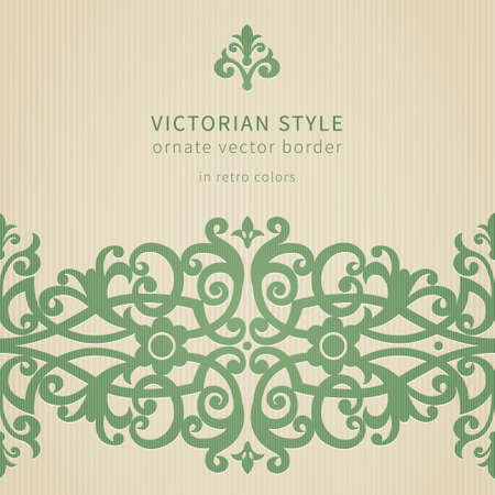 victorian wallpaper: Vector seamless border in Victorian style. Element for design. Ornamental backdrop. Light lace background. Ornate floral decor for wallpaper. Endless texture. Monochrome pattern fill.