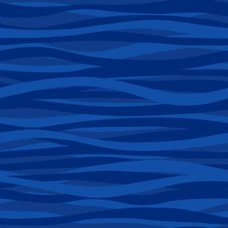 Blauwe naadloze patroon met golven. Mariene golven achtergrond. Het kan gebruikt worden voor behang, patroonvullingen, webpagina achtergrond, oppervlaktestructuren.