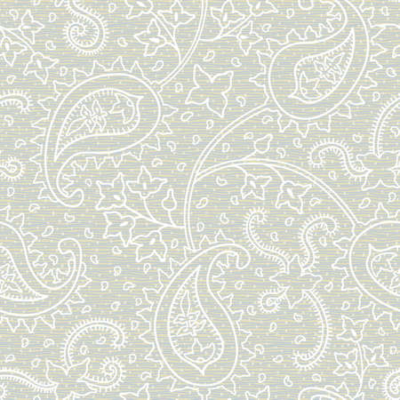 Ornate floral seamless texture. Grey endless pattern. Persian style background. Seamless pattern can be used for wallpaper, pattern fills, web page background, surface textures. 矢量图像