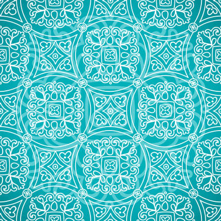 scrollwork: Ethnic decorative pattern. Lacy seamless ornament in retro style. Background in rustic style. It can be used for wallpaper, pattern fills, web page background, surface textures.