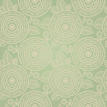 retro flowers: Ornamental seamless pattern with flowers and leaves in retro style. Light floral background. Illustration